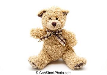 Teddy bear with neck trails