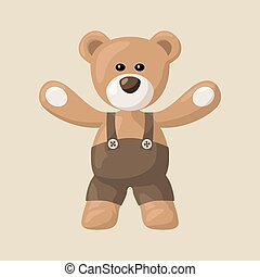 Teddy Bear with Pants - Teddy bears with black pants.
