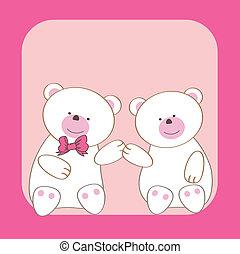 Teddy bears couple.