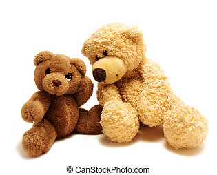 teddy bears friends - teddy-bear whispering secrets to the...