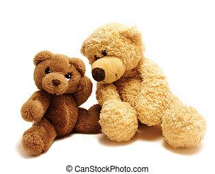 teddy bears friends - teddy-bear whispering secrets to the...