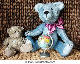 teddy-bears & globe