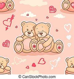 teddy bears in love samless