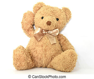 Teddy bears on a white background
