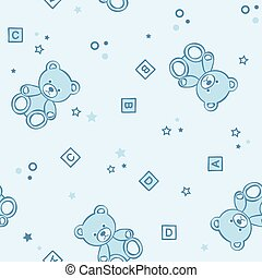 Teddy bears seamless background. - Teddy bears seamless pink...