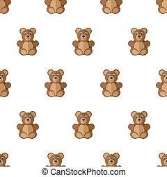 Teddy bears seamless pattern.