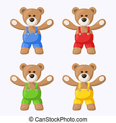 Teddy Bears with Pants - Small pack with teddy bears with ...