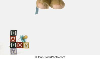 teddy beer, het vallen, besides, baby, blo