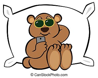 teddy, breken, beer