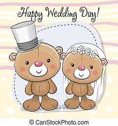Teddy Bride and Teddy groom