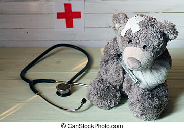 teddy, jouet, docteur