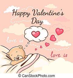 teddy love greeting card