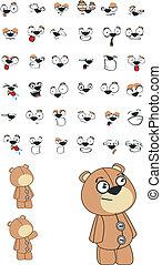 teddy plush cartoon set