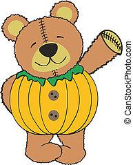 teddy pumkin in vector format