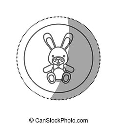teddy rabbit baby icon