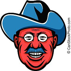teddy-rooseverlt-rough-rider-head-frnt-MASCOT - Mascot icon...
