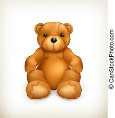 teddy, vettore, orso