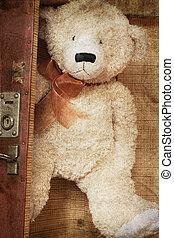 teddy, vintage-style, orso