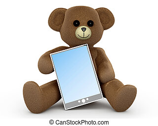 Teddy with a Tablet PC