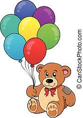 teddy, wizerunek, niedźwiedź, 1, temat, partia