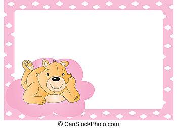 teddybär, für, babygirl