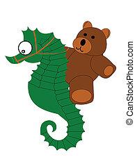 teddybear and seahorse