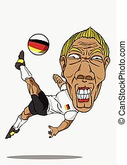 tedesco, calcio, player.