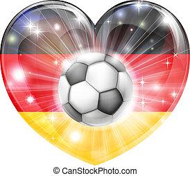 tedesco, cuore, calcio, bandiera