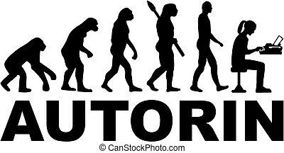 tedesco, evoluzione, scrittore, femmina, macchina scrivere