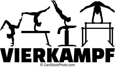 tedesco, four-part, ginnastica, concorrenza