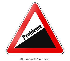tedesco, problema, lingua segno, pericolo