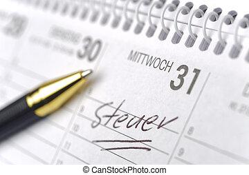 tedesco, tax-day, promemoria, calendario