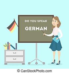 tedesco, teacher., femmina