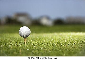 tee., ボール, ゴルフ