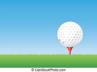 tee., balle, golf