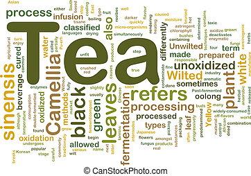 tee, begriff, hintergrund, getränk