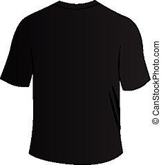 tee, camisa negra, espalda