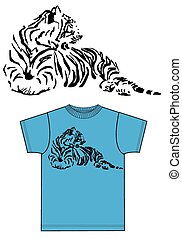 tee for men or boys with a tiger