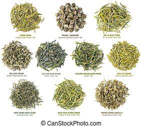 tee, grün, chinesisches , sammlung