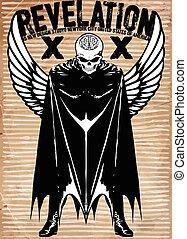 Tee graphic skull super hero man white background