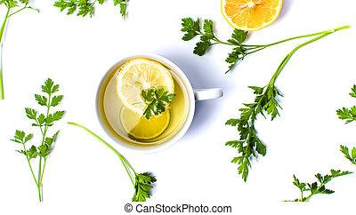 Zitronenpetersilie und Honig zum Abnehmen