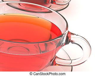tee, tassen, hintergrund