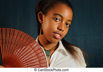 Teen african american girl