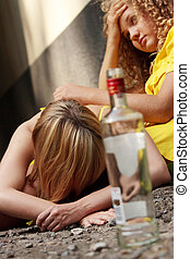 Teen alcohol addiction