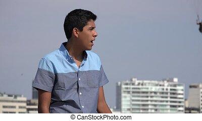 Teen Boy Amazed