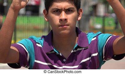 Teen Boy Angry