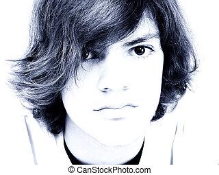 Teen Boy Close Up
