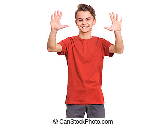 Teen boy emotions and signs