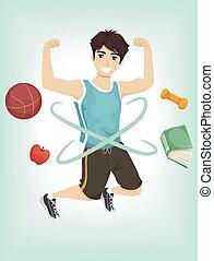 Teen Boy Fitness Jump