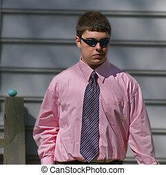 Teen Boy in shirt and tie